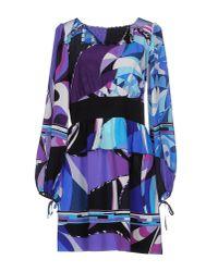 Emilio Pucci - Purple Short Dress - Lyst