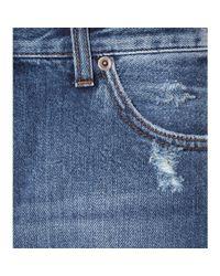 McQ - Blue Cropped Boyfriend Jeans - Lyst