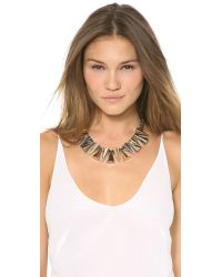 Sarah Magid Metallic Large Mixed Metal Cone Necklace