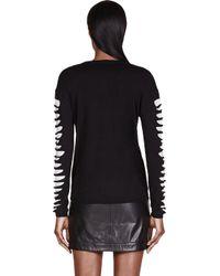 McQ | Black Slashed Knit Sweater | Lyst