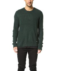 Cheap Monday Green Curve Knit Sweater for men
