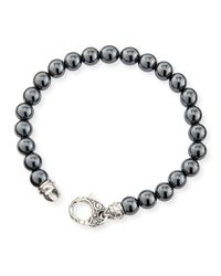 Stephen Webster | Metallic Hematite Bead Sterling Silver Bracelet for Men | Lyst