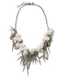 Banana Republic - Metallic Pearl Spike Necklace - Lyst