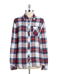 Beach Lunch Lounge | Red Plaid Button-down Top | Lyst