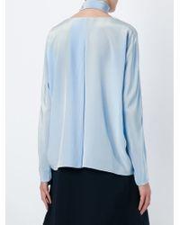 Dorothee Schumacher | Blue Tie Blouse | Lyst