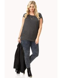 Forever 21 - Gray Plus Size Everyday Dolman Top You've Been Added To The Waitlist - Lyst