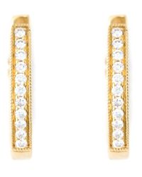 Wouters & Hendrix | Metallic Diamond Hoop Earrings | Lyst