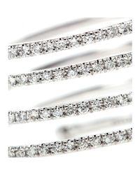 Stone - Metallic 18Kt White Gold Vertigo Ring With White Diamonds - Lyst
