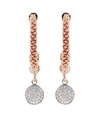 Links of London | Pink Star Dust Small Round Drop Earrings | Lyst