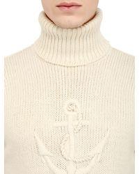 Façonnable White Turtleneck Wool Blend Sweater for men