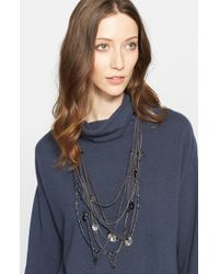 Fabiana Filippi - Gray Layered Metal Necklace - Slate Metal - Lyst