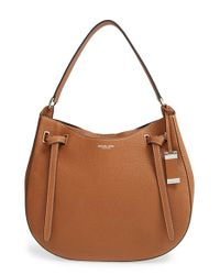 Michael Kors | Brown 'Large Rogers' Shoulder Bag | Lyst