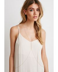 Forever 21 | Metallic Circle Charm Body Chain | Lyst