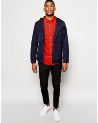 ASOS - Red Smart Shirt In Long Sleeves With Square Collar for Men - Lyst