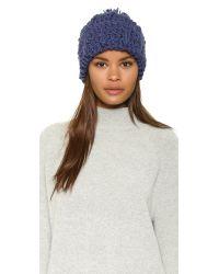 1717 Olive | Blue Cuffed Pom Beanie Hat | Lyst