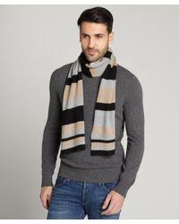 Portolano   Black Multicolor Cashmere Scarf for Men   Lyst