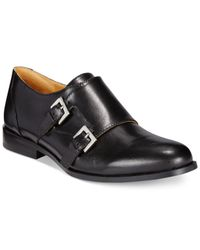 Nine West | Black Toastie Oxford Buckle Flats | Lyst