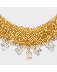 Paul Smith Metallic Women's Gold Beaded And Topaz 'cleopatra' Necklace