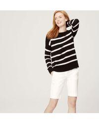 LOFT - White Walking Shorts In Marisa Fit - Lyst