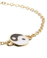 ASOS - Metallic Ying Yang Bracelet - Lyst