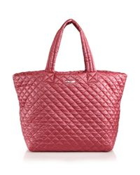 MZ Wallace | Red Metro Quilted Tote | Lyst
