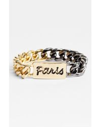 BCBGeneration | Metallic 'paris' Chain Link Bracelet | Lyst