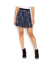 RACHEL Rachel Roy | Blue Sequin Circle Skirt | Lyst