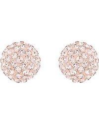 Swarovski | Pink Blow Earrings | Lyst