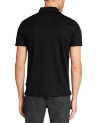 BOSS - Black 'genova' | Regular Fit, Cotton Polo Shirt for Men - Lyst