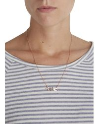 Marc By Marc Jacobs | Metallic Rose Gold Tone Snake Logo Necklace | Lyst