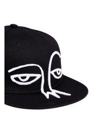 Haculla Black 'hac Face' Embroidery Appliqué Six-panel Cap for men