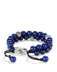 David Yurman | Blue Spiritual Beads Tworow Bracelet with Lapis Lazuli | Lyst