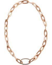 Sidney Garber Metallic Brown Diamond Rose Gold Tivoli Brun Ychain