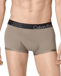 Calvin Klein Gray Low Rise Trunks for men