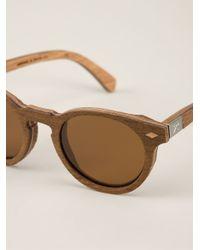 Shwood Brown 'Florence' Sunglasses for men