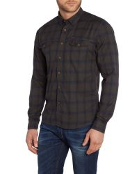 Duck and Cover - Green Salem Long Sleeve Check Shirt for Men - Lyst