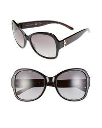 Tory Burch - Black 58mm Butterfly Sunglasses - Lyst