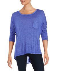 Calvin Klein Purple Dolman Sleeved Tee
