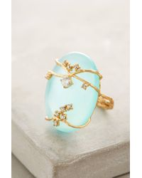 Indulgems - Green Ivied Looking Glass Ring - Lyst