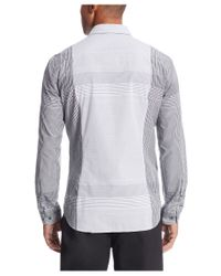 BOSS Green - Black 'bariko' | Regular Fit, Cotton Plaid Button Down Shirt for Men - Lyst