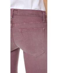 Current/Elliott - Purple The Stiletto Jeans - Lyst