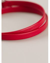 Ferragamo - Pink Gancini Detail Bracelet - Lyst