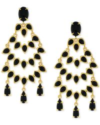 Vince Camuto | Metallic Gold-tone Stone Drama Chandelier Earrings | Lyst