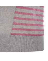 Paul Smith - Pink Women'S Grey Merino Wool Cardigan With Striped Back Panel - Lyst
