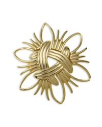 Kenneth Jay Lane | Metallic Woven Brooch | Lyst