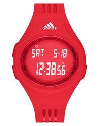 Adidas - Red 'uraha Mid' Digital Watch - Lyst