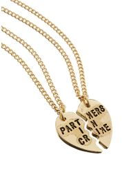ASOS - Metallic Best Friends Partners in Crime Necklaces - Lyst