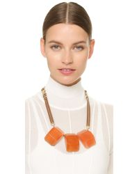 Marni - Red Resin Necklace - Chili - Lyst