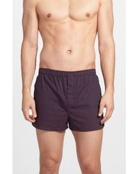 Derek Rose | Brown Cotton Boxers for Men | Lyst
