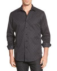 Robert Graham | Black 'o'donnell' Classic Fit Jacquard Sport Shirt for Men | Lyst